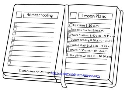 A Muslim Child is Born: Homeschooling: Planning Your