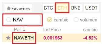 Comprar en Binance y Coinbase con Euros y Dolares NAV Coin