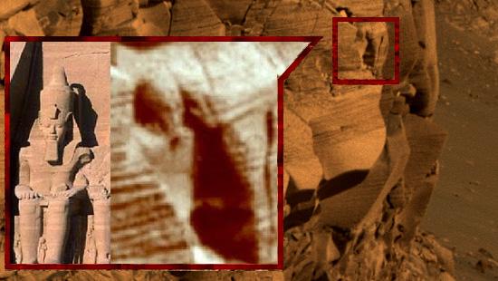 Imagens misteriosas de Marte - Estátua Egípcia em Marte