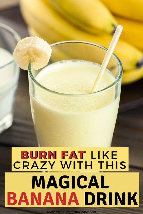Burn Fat Like Crazy With This Magical Banana Drink!