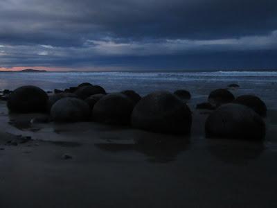 Rocas Moeraki (boulders), en Nueva Zelanda