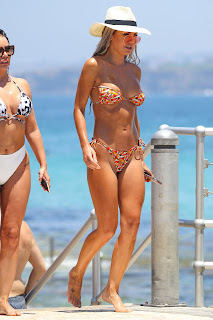 Kirralee Morris in Brown Bikini at North Bondi Beach