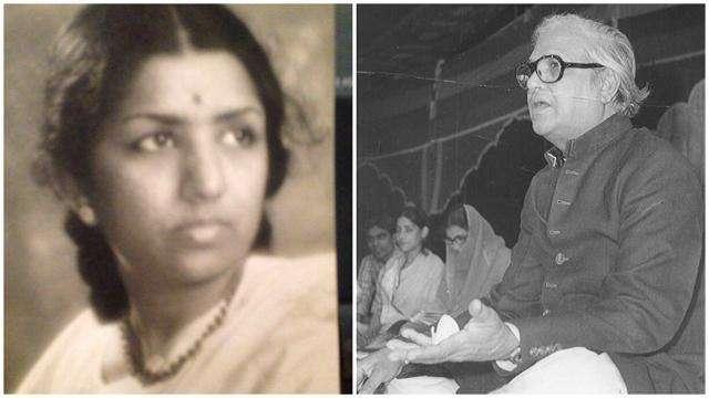 Lata Mangeshkar with majrooh sultanpuri