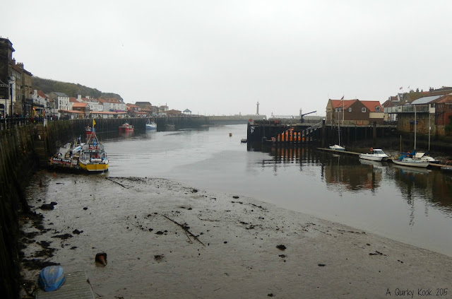 Whitby Harbour at low tide