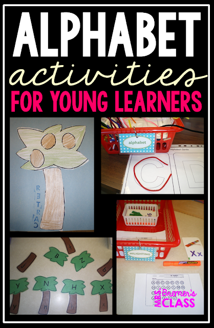 Alphabet activities perfect for literacy centers in Kindergarten.