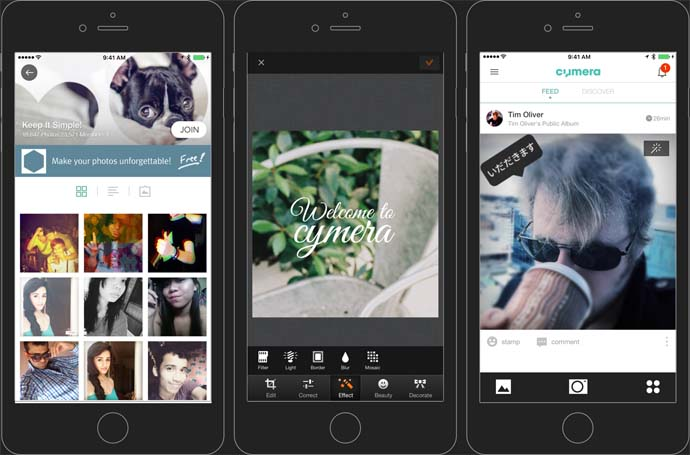 Cymera - Aplikasi Pembuat Kata Kata Android