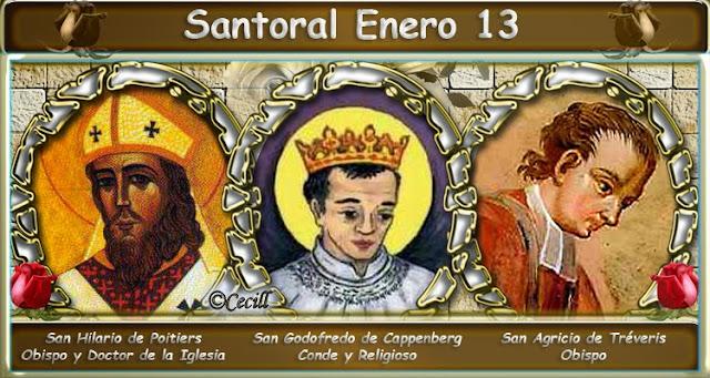 Resultado de imagen de Santoral del 13 de enero