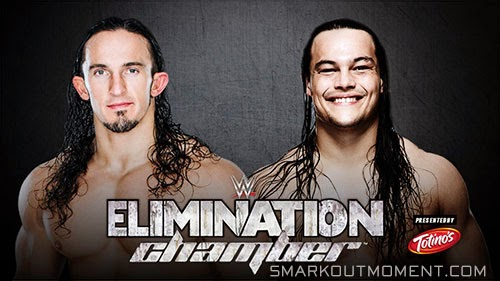 WWE Elimination Chamber Neville vs Bo Dallas ppv 2015 match