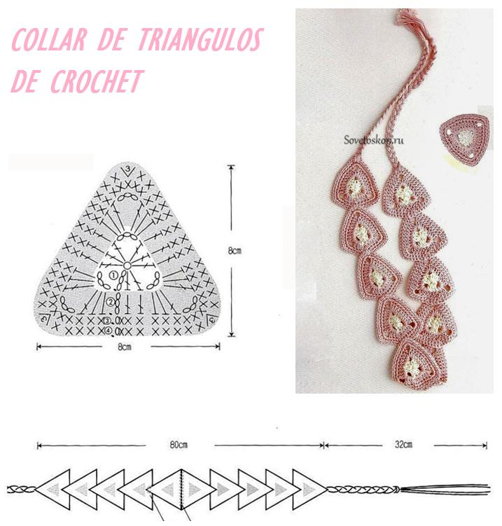 Collar de Triangulos de Crochet