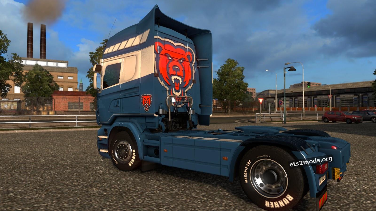 Scania RJL Bear Transport Skin