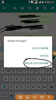 How to Delete send messages on Whatsapp