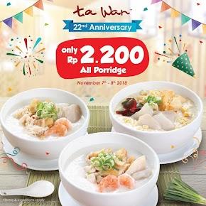 Mencicipi Promo Bubur Ayam Rp 2.200 Di Ta Wan