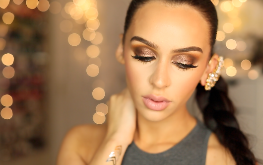 Grunge Glam Holiday Makeup Look!