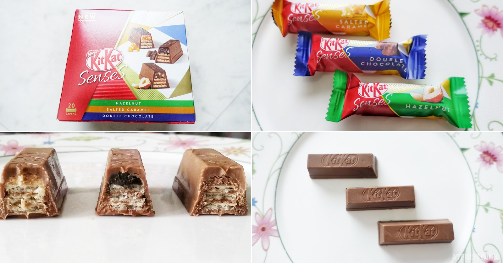 Kitkat senses double chocolate salted caramel hazelnut
