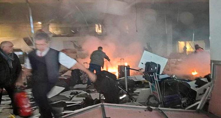 CNN تنشر الفيديو الأكثر وضوحًا للحظة تفجير مطار بروكسيل
