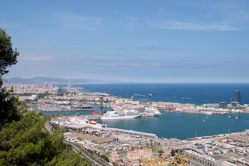 Blick vom Kastell Montjiuc Barcelona auf den Hafen // View from Castell Montjiuc Barcelona