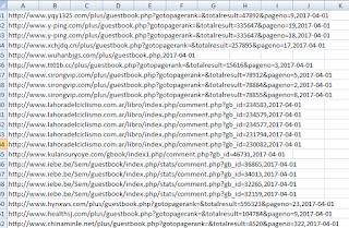 Setelah selesai download sekarang buka file csv tersebut dan nampak seperti ini