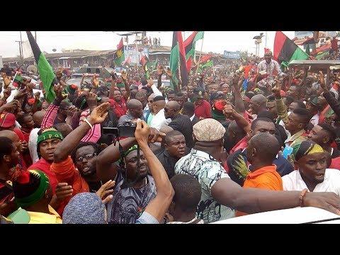 BIAFRA: Nnamdi Kanu Breaks World Peaceful Protest Rally Record