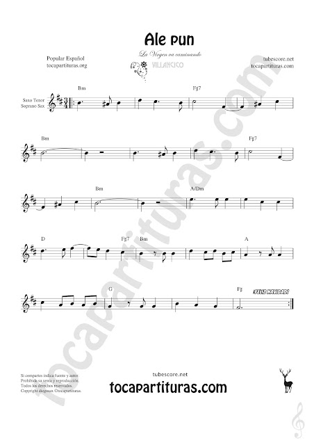 Soprano Sax y Saxo Tenor Partitura de Sheet Music for Soprano Sax and Tenor Saxophone Music Scores