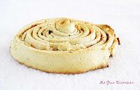 Espiral de pan provenzal con nueces y queso