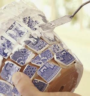 Kırık Tabaklarla Mozaik Süsleme Yapımı