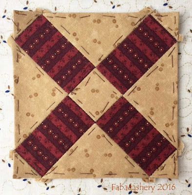 Dear Jane Quilt - Block F4 Old Windmill