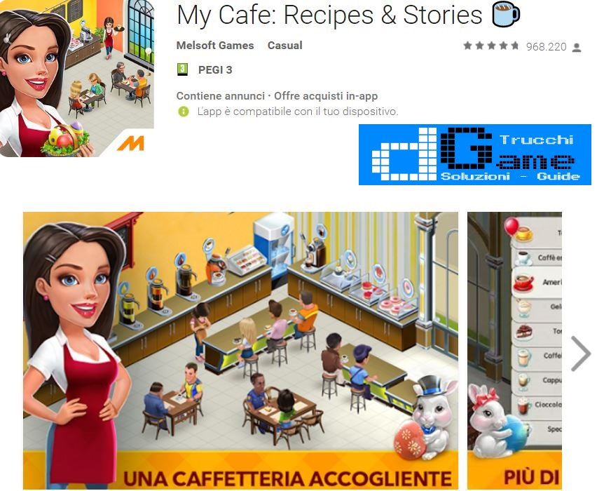 Trucchi My Cafe: Recipes & Stories Mod Apk Android v2017.4