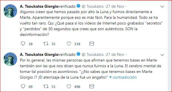 Giorgio Tsoukalos en Twitter se asombra de como reacciona la mente humana
