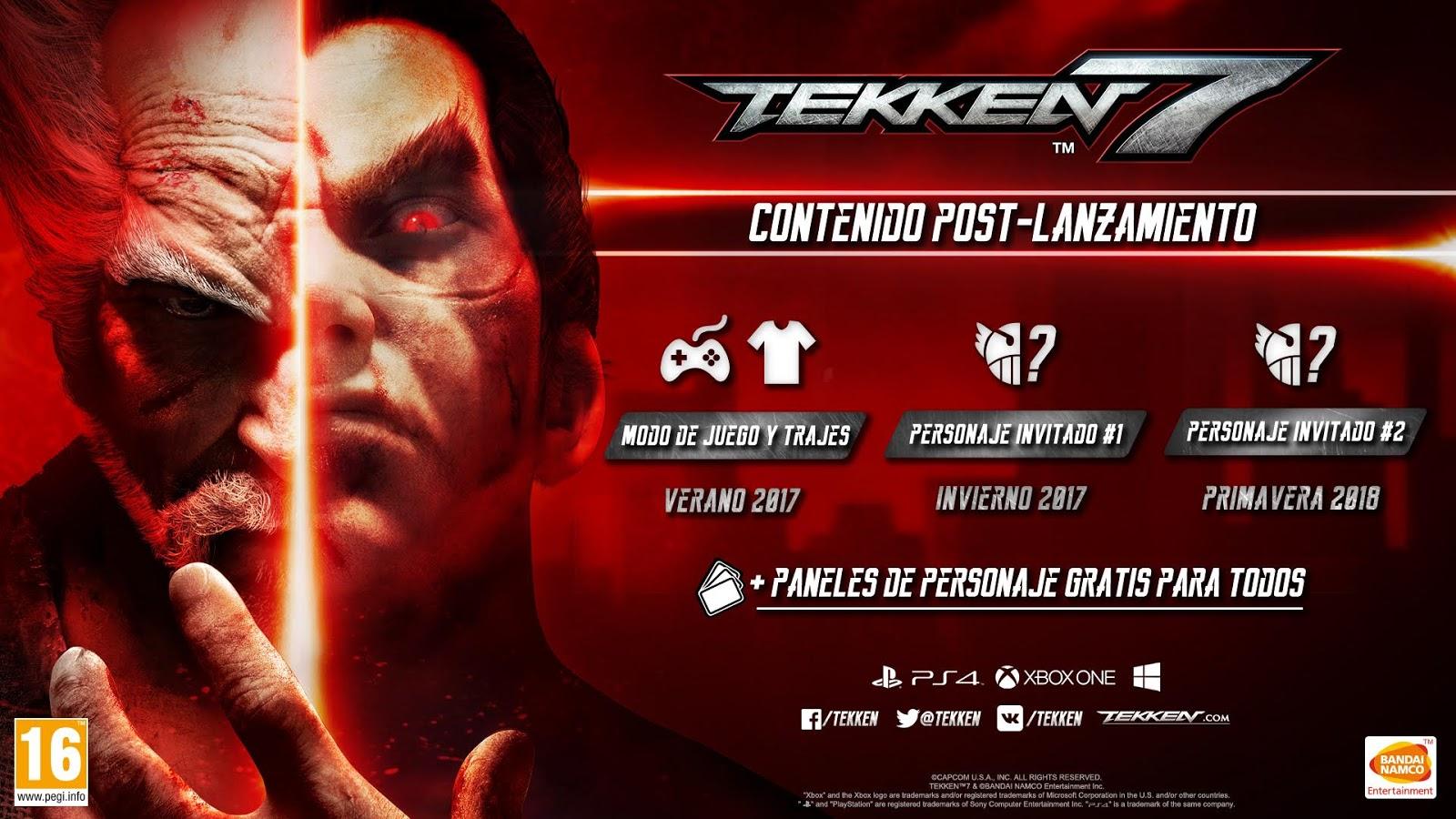 Tekken 7 concreta contenido adicional, ¡dos personajes de otros videojuegos!