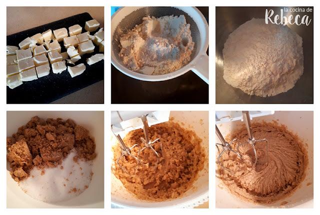 Receta de cookies de chocolate blanco y arándanos secos: la masa