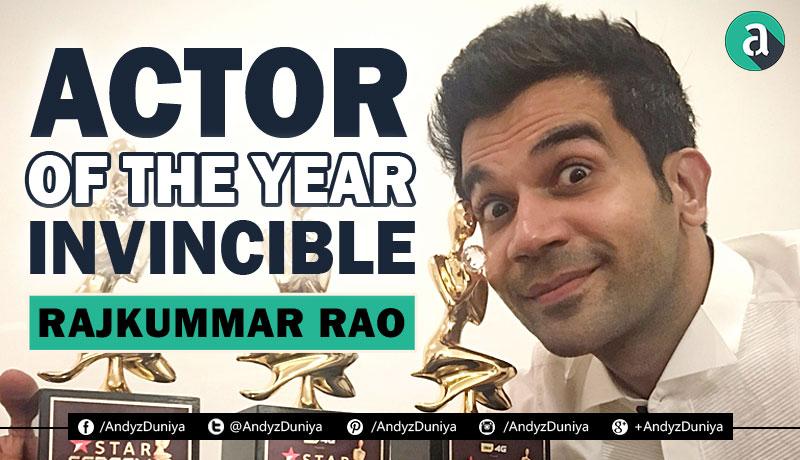 bollywood actor, rajkummar rao, holding awards, twitter, man of the year, talented, best of bollywood, star, celebrity