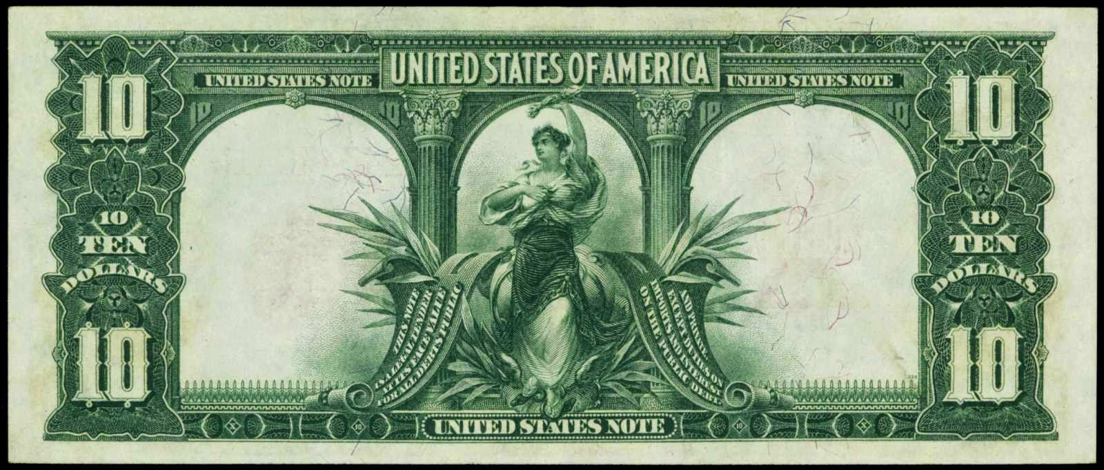 1901 10 Dollars Legal Tender Note