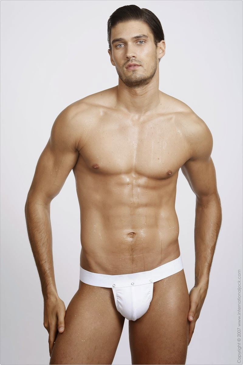 cali model: FRANCIS CADIEUX FOR GREGG HOMME UNDERWEAR AND IN