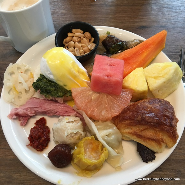 breakfast buffet plate 1 at Regent Taipei in Taiwan