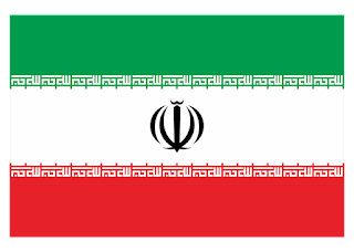 Iran Flag Logo Vector