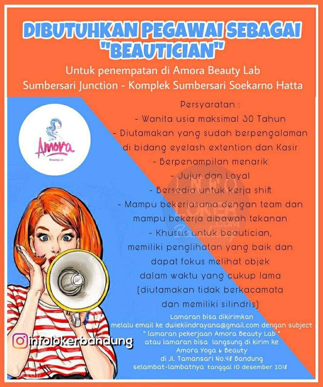 Lowongan Kerja Beautician Amora Beauty Lab Bandung Desember 2018