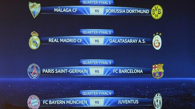 Jadwal Liga Champions: Jadwal Perempat Final Liga Champions 2012/2013
