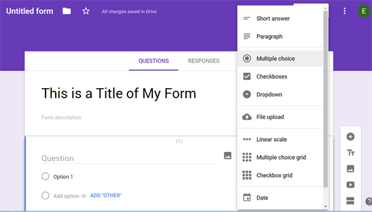 How to Change Type of your Question in Google Form