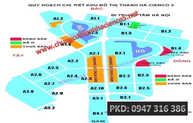 sơ đồ mặt bằng khu đô thị Thanh Hà