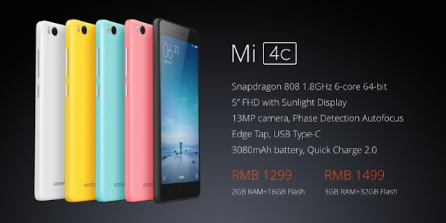 Xiaomi Mi 4C Smartphone Launched Officially