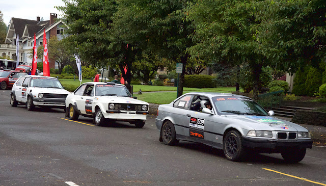 If you like a little variety in your motorsport, how about an E36 BMW, a '70s-vintage Cosworth-powered Ford Escort, and an A2 VW Golf?