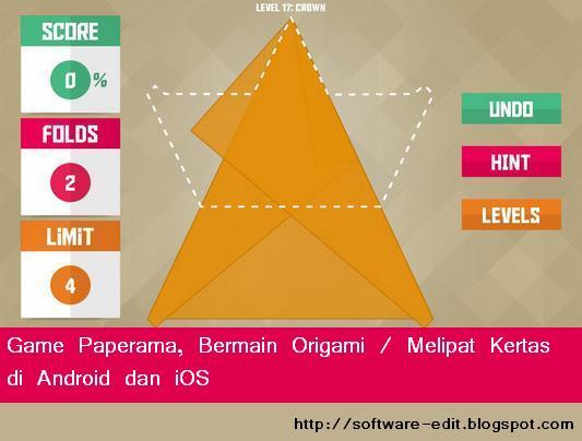 Game Paperama, Bermain Origami / Melipat Kertas di Android dan iOS