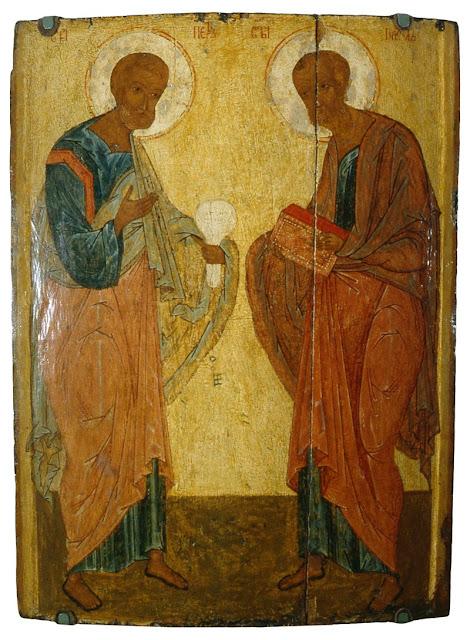 Преп. Максимъ Грекъ († 1556 г.): Слово похвальное къ святымъ апостоломъ Петру и Павлу, въ томъ же обличенія и на латыньскыя три большія ереси