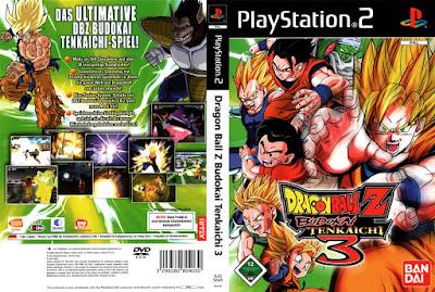 Jogo Dragon Ball Z: Budokai Tenkaichi 3 PS2 DVD Capa