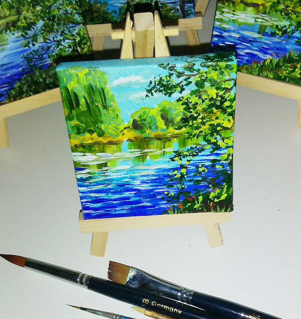 landscape on mini canvas