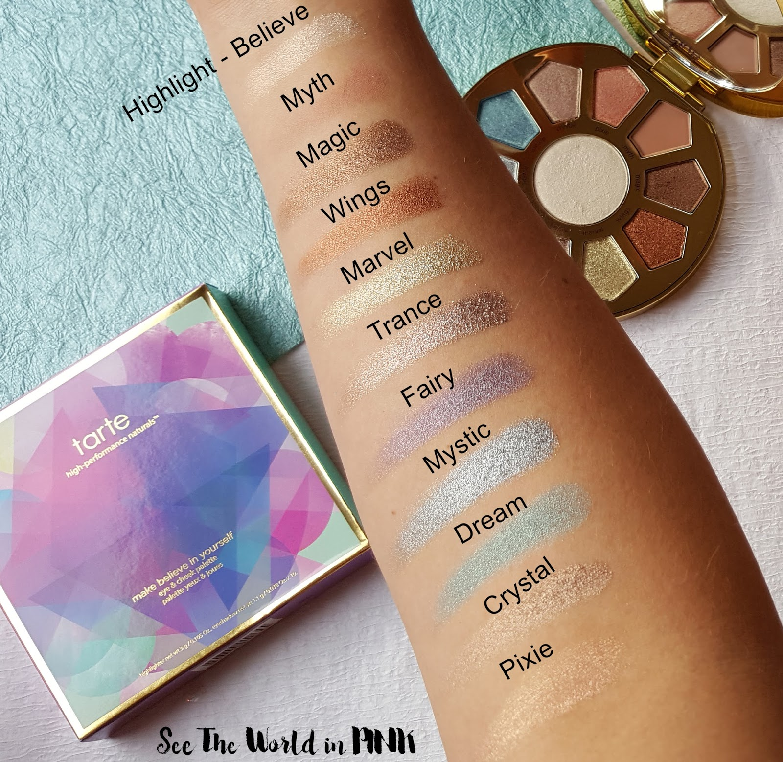 Tarte Make Believe In Yourself: Eye & Cheek Palette - Thoughts and Swatches!