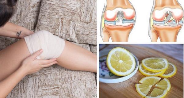scapa de durerile de genunchi cu lamaie