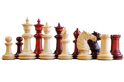 The Bath Padauk and Boxwood Chessmen