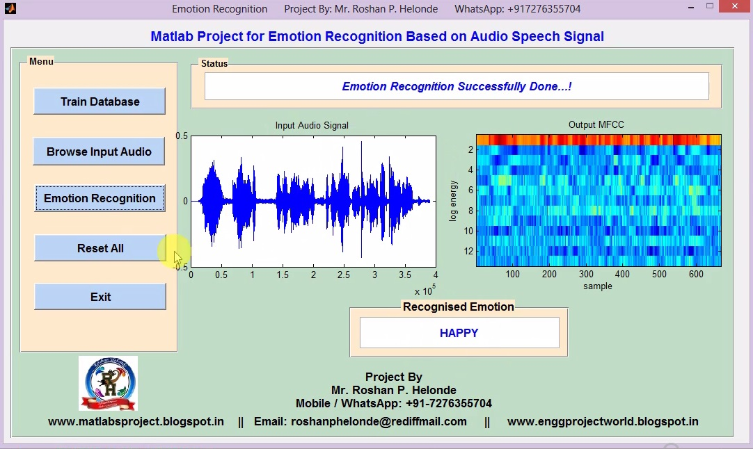 Speech Recognition Using Matlab Project Code