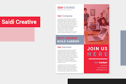 Courses Business Flyer Template Free Download on MS. Word File